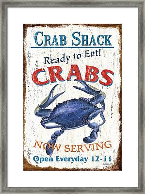 The Crab Shack Framed Print by Debbie DeWitt
