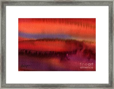 The Crater Framed Print by Addie Hocynec