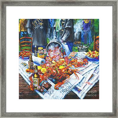 The Crawfish Boil Framed Print by Dianne Parks