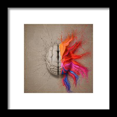 Consciousness Framed Prints