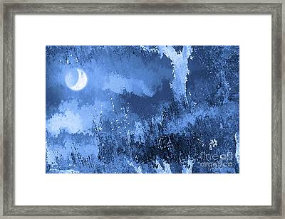 The Crescent Moon Framed Print