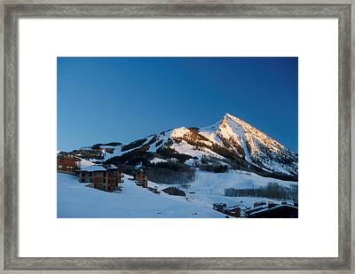The Crested Butte Framed Print by Jerry McElroy