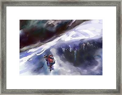 The Crevasse Bridge Framed Print
