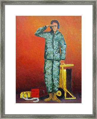 The Crew Chief Framed Print