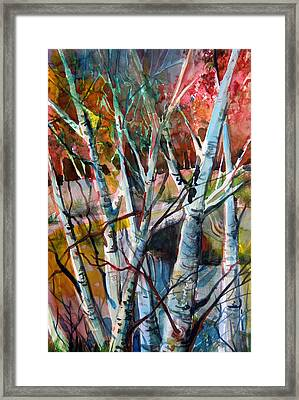 The Cries Of Autumn Framed Print by Mindy Newman