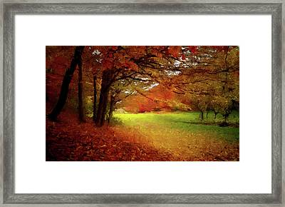 The Crimson Season P D P Framed Print