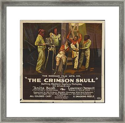 The Crimson Skull 1922 Framed Print