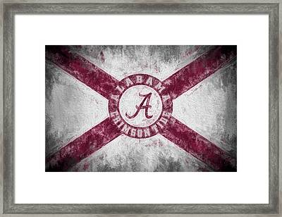 The Crimson Tide State Flag Framed Print by JC Findley