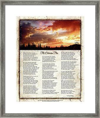 The Crimson Tree Poem Framed Print by Gary Bodnar