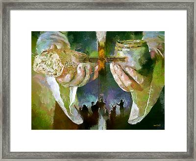 The Cross And The Feast Framed Print