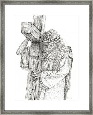 The Cross Framed Print by Mayhem Mediums