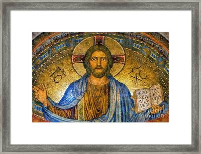 The Cross Of Christ Framed Print by Ian Mitchell