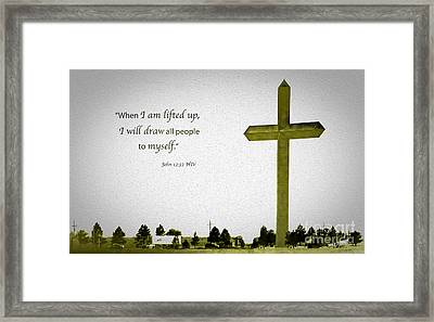 The Cross Of Christ Framed Print by MaryJane Armstrong
