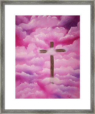 The Cross Of Redemption Framed Print by Laurie Kidd