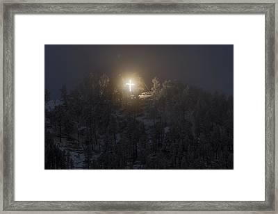 The Cross On Sundance Mountain Framed Print