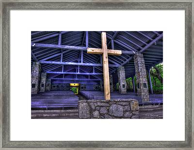 The Cross Pretty Place Chapel Art Framed Print