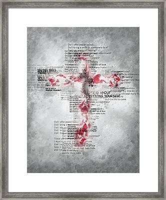 The Cross Speaks Framed Print