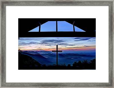 The Cross Unmerited Love Pretty Place Chapel Framed Print by Reid Callaway