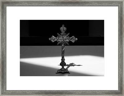 Framed Print featuring the photograph The Cross's Shadow by Monte Stevens