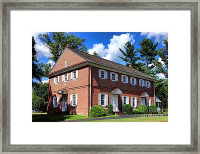 The Crosswicks Meeting House In Chesterfield  Framed Print by Olivier Le Queinec