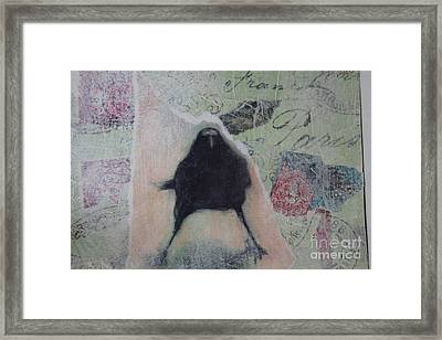 The Crow Called The Raven Black Framed Print