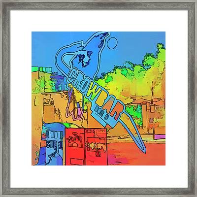 The Crowbar Ybor City Framed Print