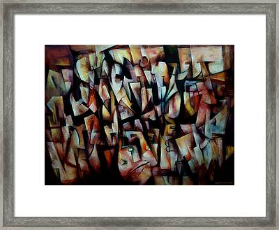 Framed Print featuring the painting The Crowds by Kim Gauge