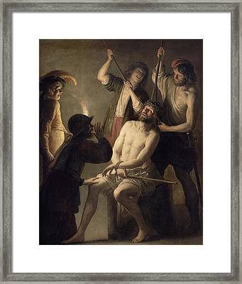 The Crowning With Thorns Framed Print by Jan Janssens