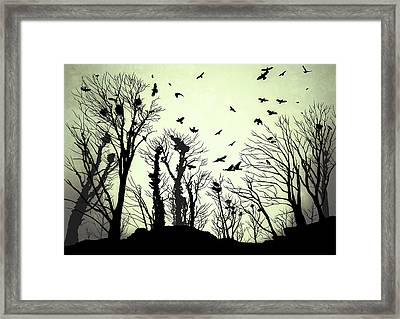 The Crows Roost - Evening Shades Framed Print by Philip Openshaw