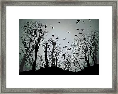 The Crows Roost - Twilight Blue Framed Print by Philip Openshaw