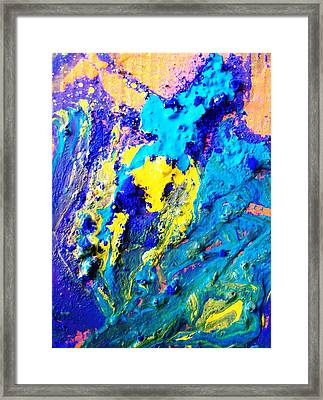 The Crucifiction As Seen In Oceans Clif Framed Print by Bruce Combs - REACH BEYOND