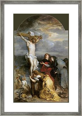 The Crucifixion By Van Der Weyden Framed Print