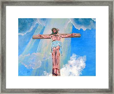 The Crucifixion Daytime Framed Print by Stan Hamilton