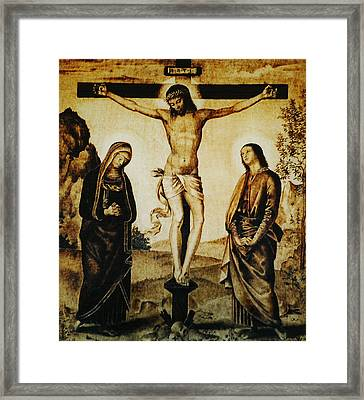 The Crucifixion Framed Print by Dino Muradian