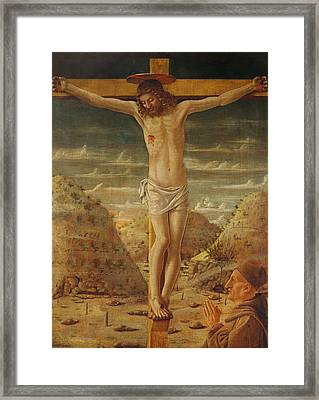 The Crucifixion Framed Print by Giovanni Bellini