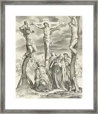 The Crucifixion Framed Print by Hendrik van the Elder Balen