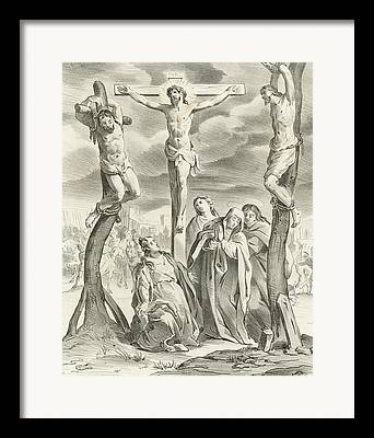 The Wooden Cross Drawings Framed Prints