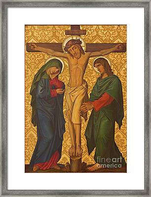 The Crucifixion Painting In Jerusalem Framed Print