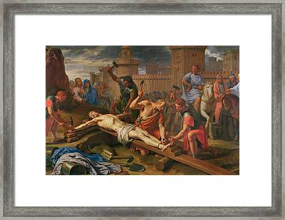 The Crucifixion Framed Print by Philippe de Champaigne