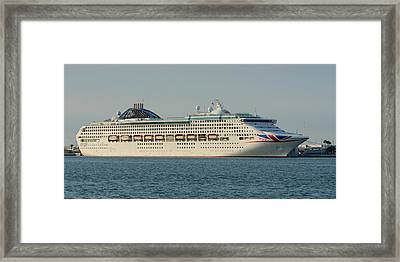 Framed Print featuring the photograph The Cruise Ship Oceana by Bradford Martin