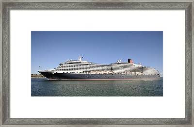 Framed Print featuring the photograph The Cruise Ship Queen Victoria by Bradford Martin
