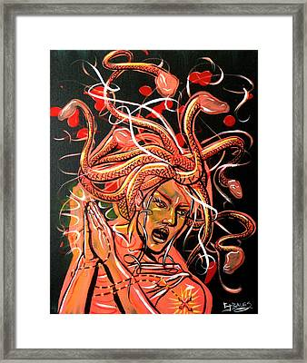 The Crumbler Of Hearts Framed Print by Ericka Bales