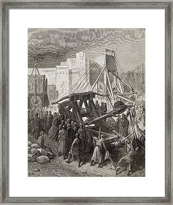 The Crusaders War Machinery Framed Print by Vintage Design Pics
