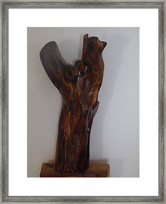 Framed Print featuring the sculpture The Cry Of Angels by Esther Newman-Cohen