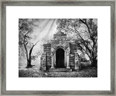 The Crypt At Woodlawn Framed Print by Jessica Jenney