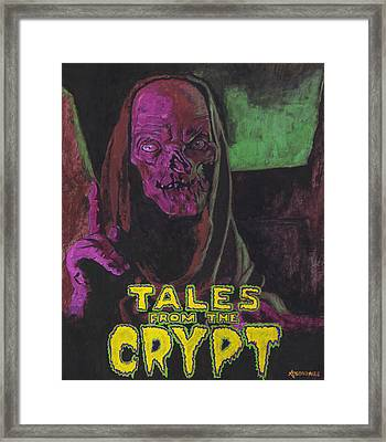Tales From The Crypt With Text Logo Trademark Framed Print