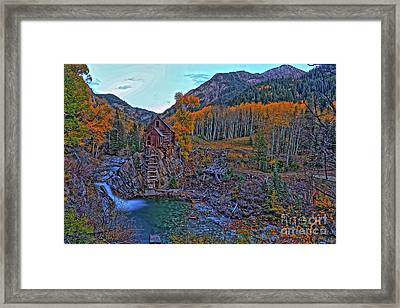 Framed Print featuring the photograph The Crystal Mill by Scott Mahon