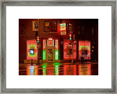 The Crystal Corner Framed Print by Todd Klassy