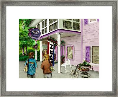 The Crystal Cove At Lilydale Ny Framed Print