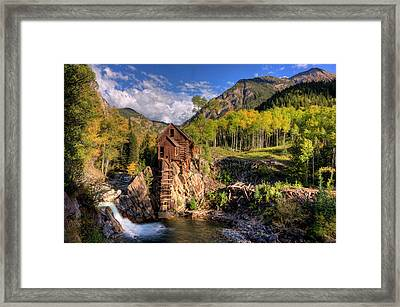 The Crystal Mill And The Crystal River Framed Print